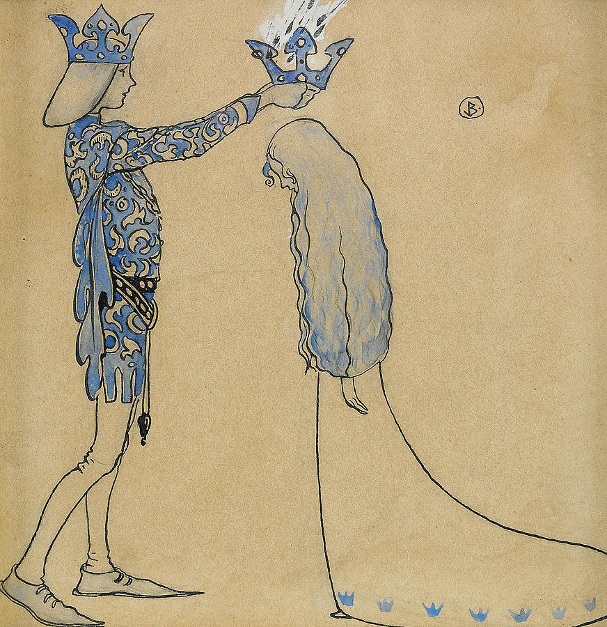 Swedish Painters Painting - Then Put The Prince A Crown Of Gold On Her Head by John Bauer