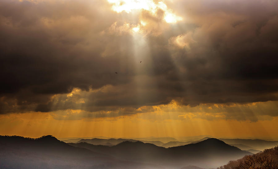 Blue Ridge Mountains Photograph - Then Sings My Soul by Karen Wiles