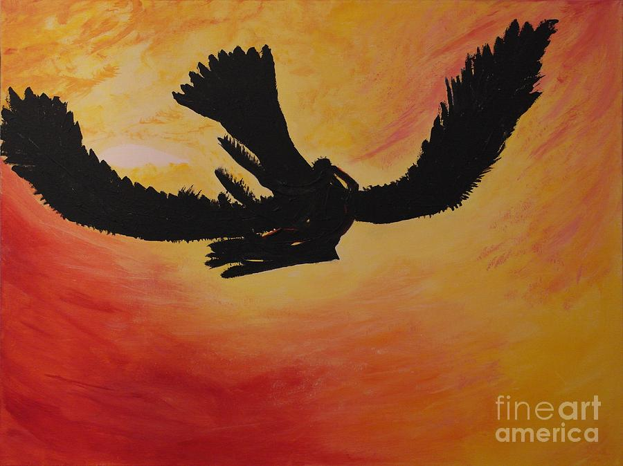 Abstract Painting - Then They Just Flew Away by Catalina Walker