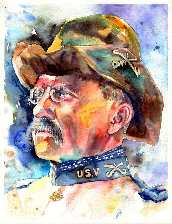 Theodore Roosevelt Painting - Theodore Roosevelt painting by Suzann Sines