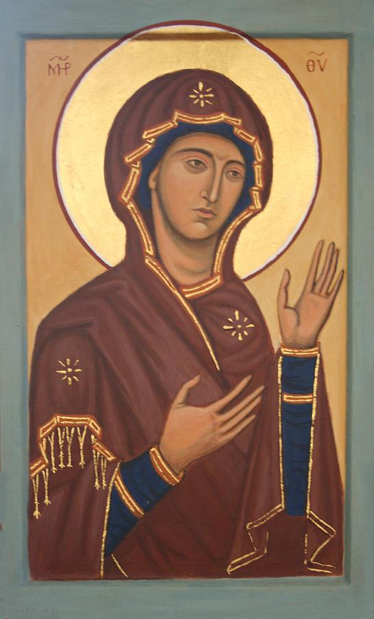 Mary Painting - Theotokos by Phillip Schwartz