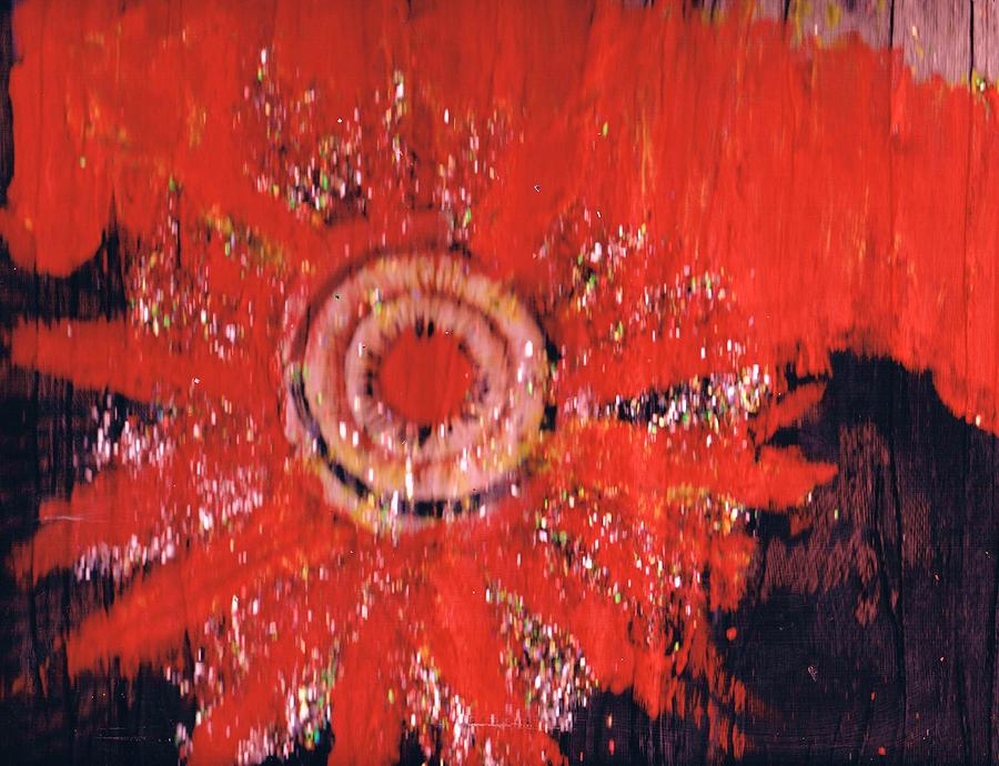 Red Painting - There Is A Bad Wolf On The Rise by Anne-Elizabeth Whiteway