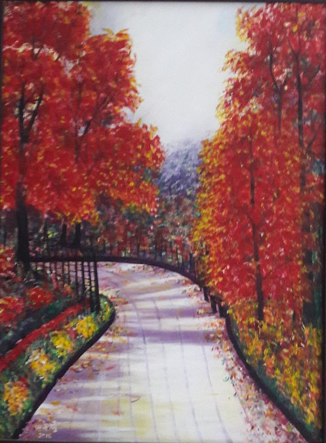 Landscape Painting - There Is Always A Bright Road Ahead by Usha Rai