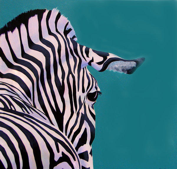 Zebra Painting - There Is Nothing More Beautiful Than A Horse With Good Lines by Scott Gordon