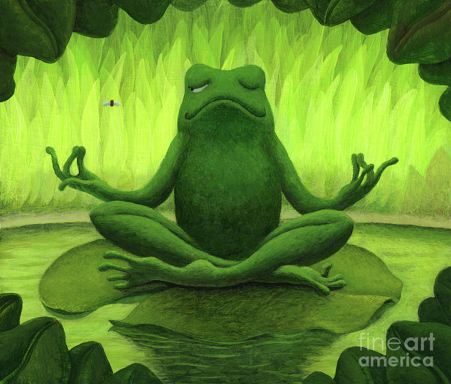 Frog Painting - There Will Be Flies by Chris Miles