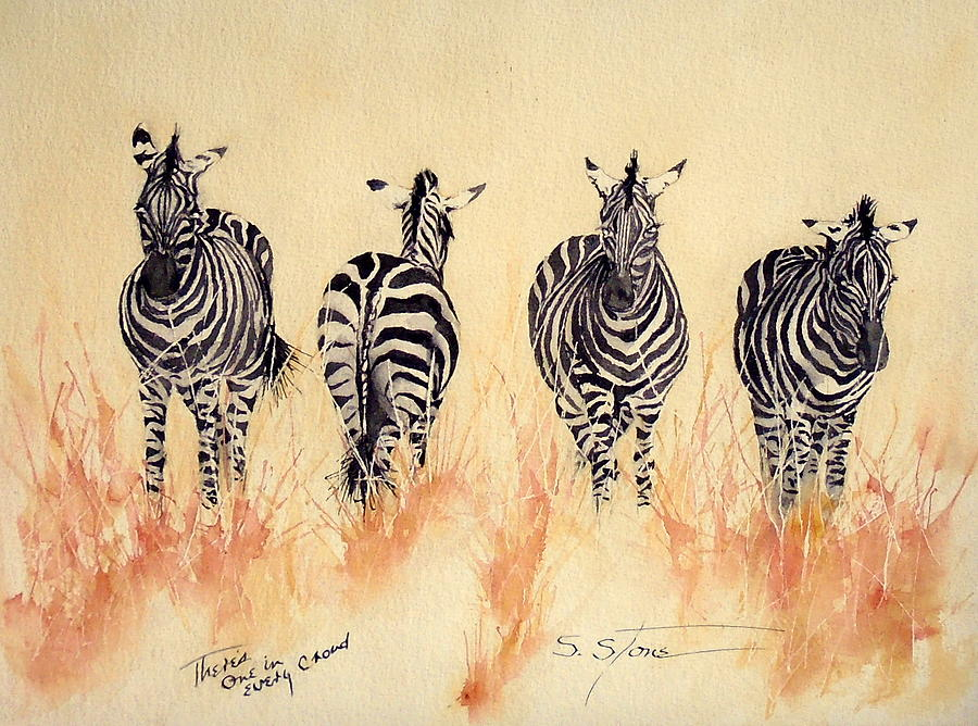 Wildlife Painting - Theres One In Every Crowd by Sandra Stone
