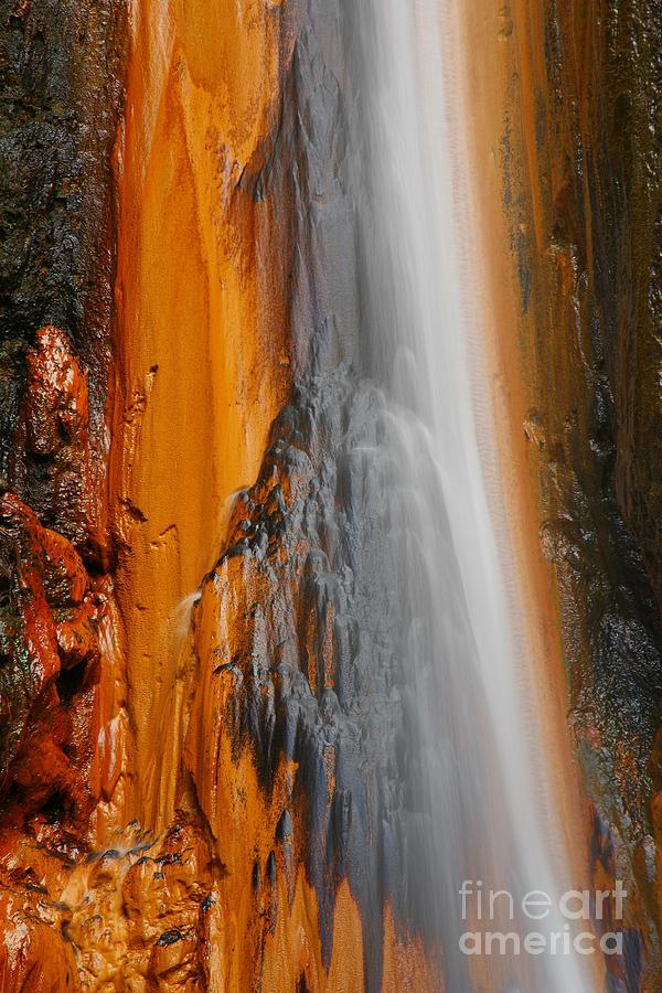 Furnas Photograph - Thermal Waterfall by Gaspar Avila