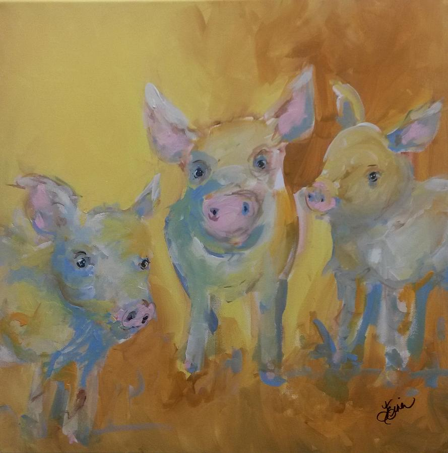 these 3 pigs painting by terri einer