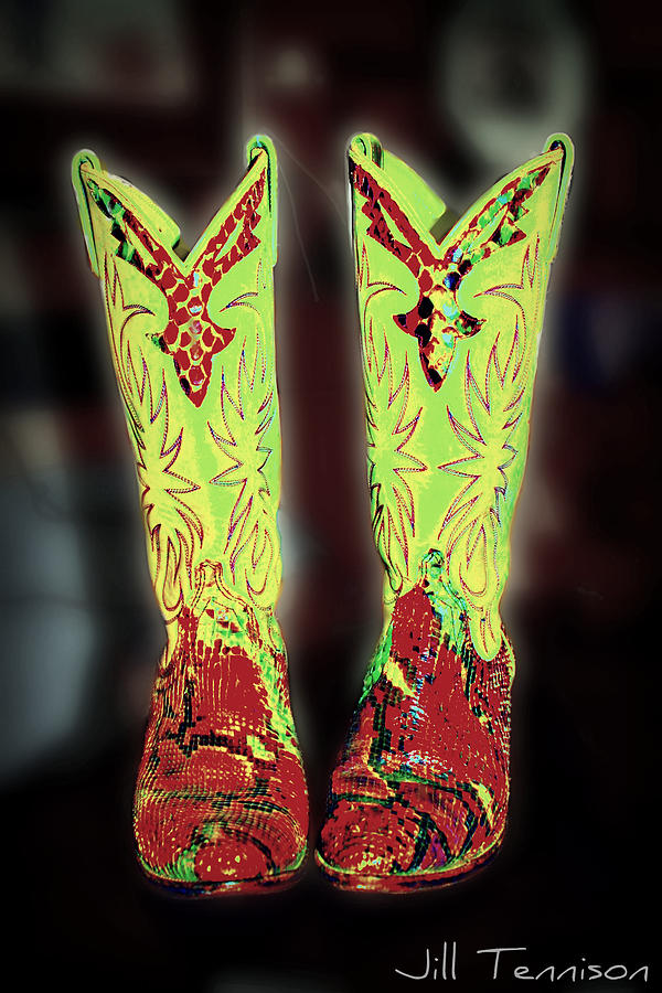 Country Photograph - These Boots by Jill Tennison