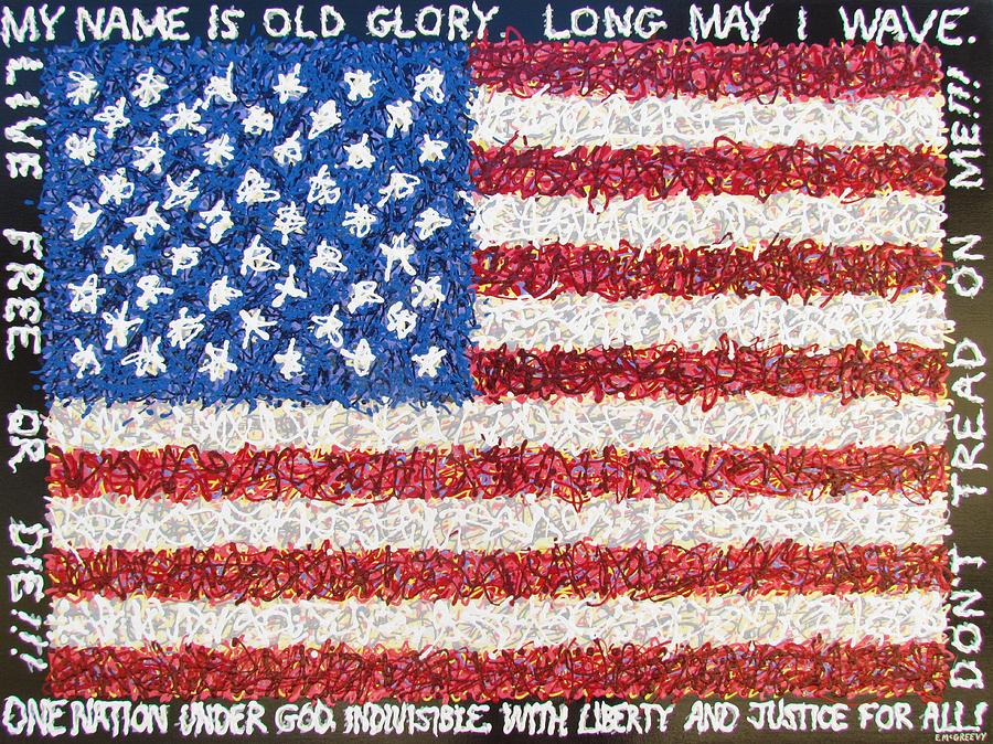 Patriot Painting - These Colors Dont Run by Eric McGreevy