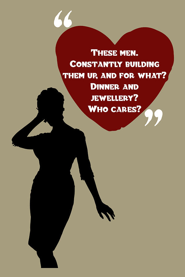 These Men - Mad Men Poster Joan Holloway Harris Quote by Beautify My Walls