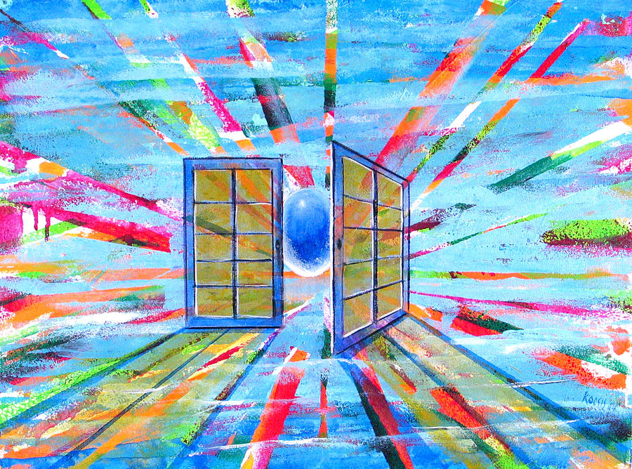 Heavenly Painting - These Open Doors by Rollin Kocsis