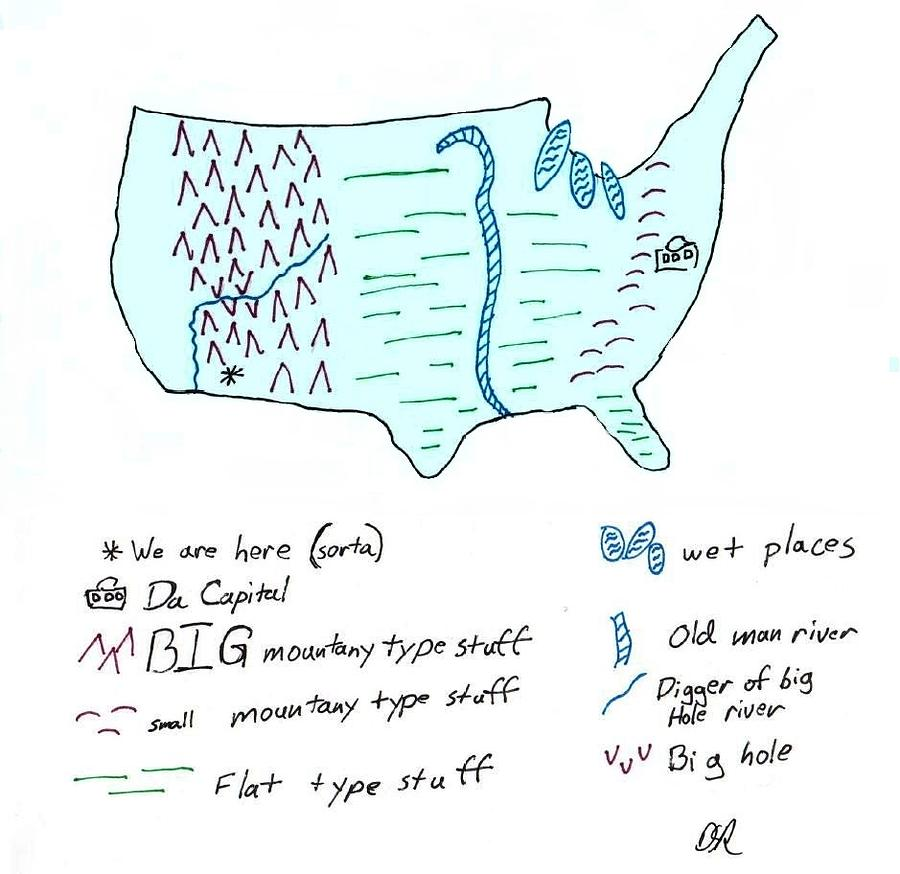 Map Photograph - These United States by David S Reynolds