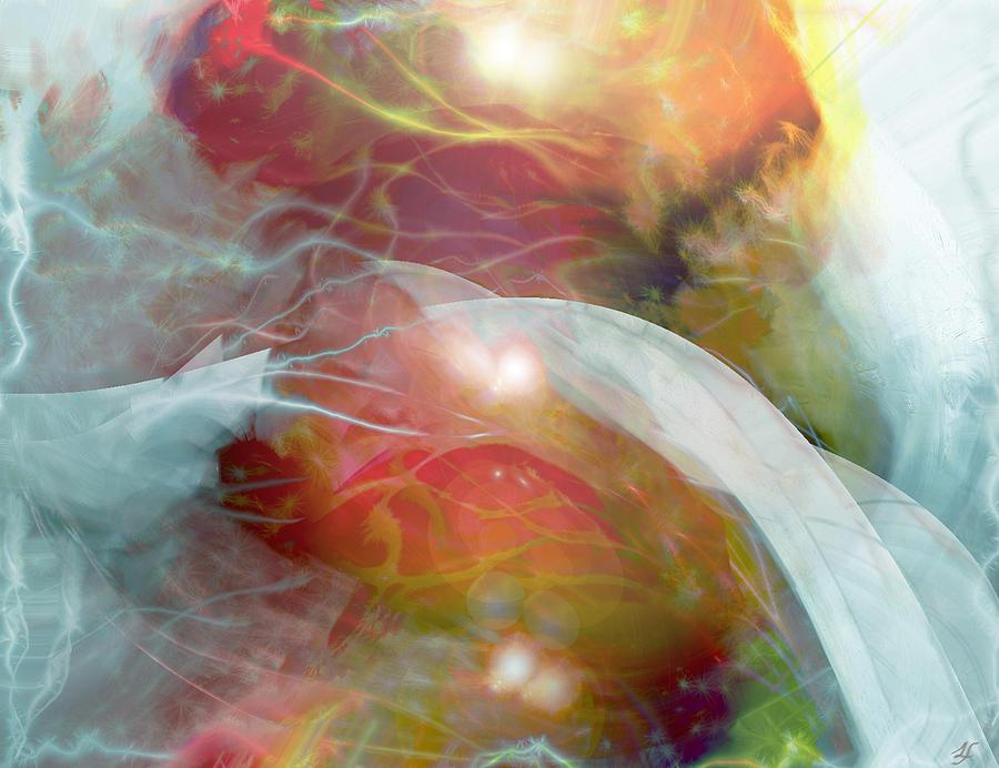Theta Brain Waves Digital Art - Theta Brain Waves by Linda Sannuti