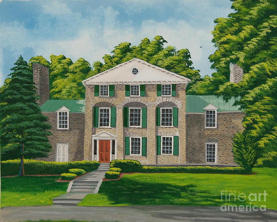 Theta Chi Frat House Painting - Theta Chi by Charlotte Blanchard