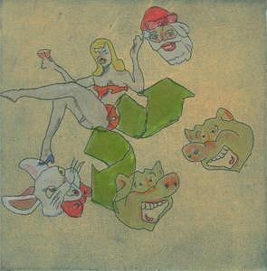 Santa Claus Print - They All Want Cinderella by Bryan Kite
