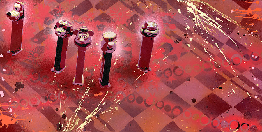 Pez Dispenser Painting - They Belong To Soul by Tai Taeoalii