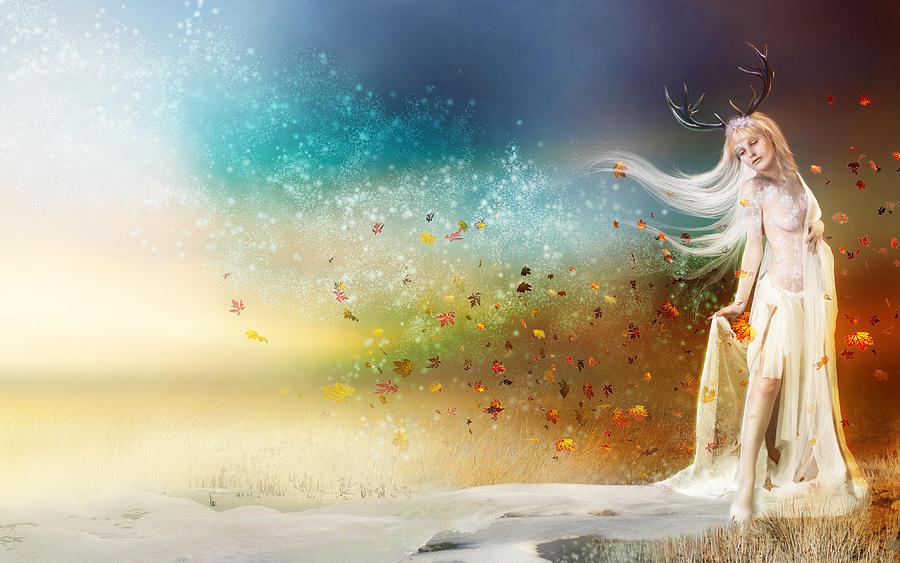 Seasons Digital Art - They Call Me Winter by Mary Hood