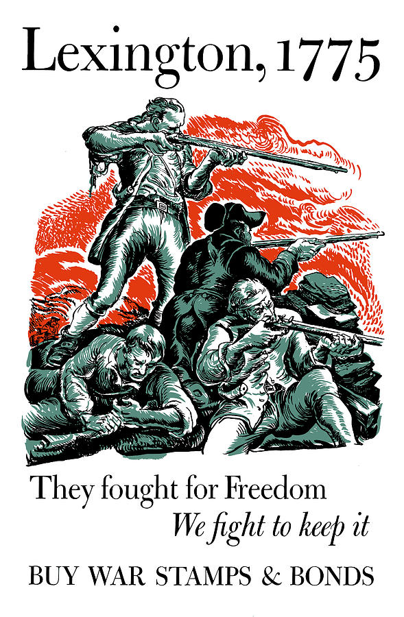 Minutemen Painting - They Fought For Freedom - We Fight To Keep It by War Is Hell Store