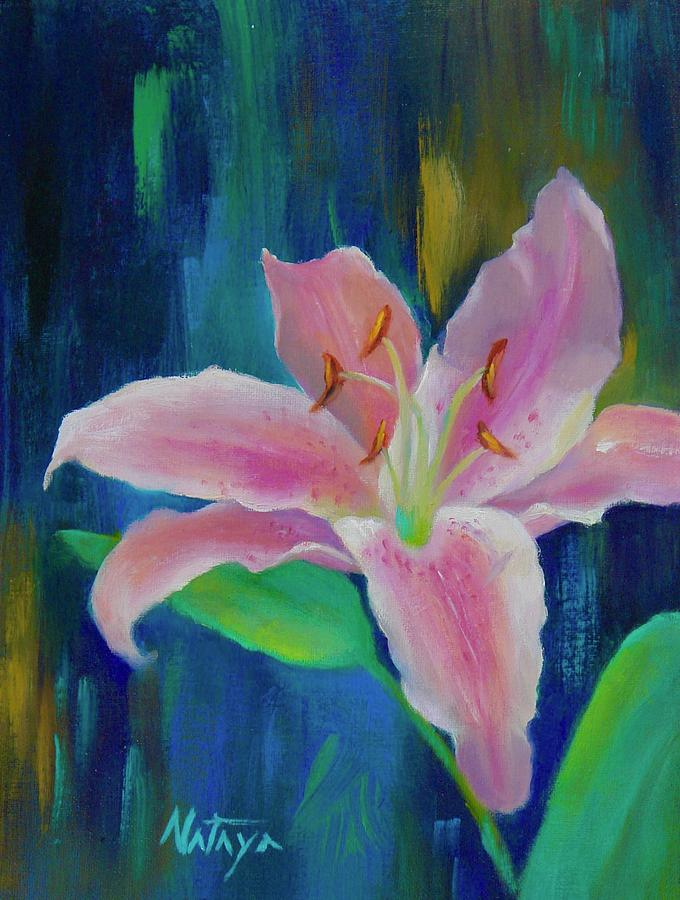 Lily Painting - They Neither Toil Nor Spin by Nataya Crow