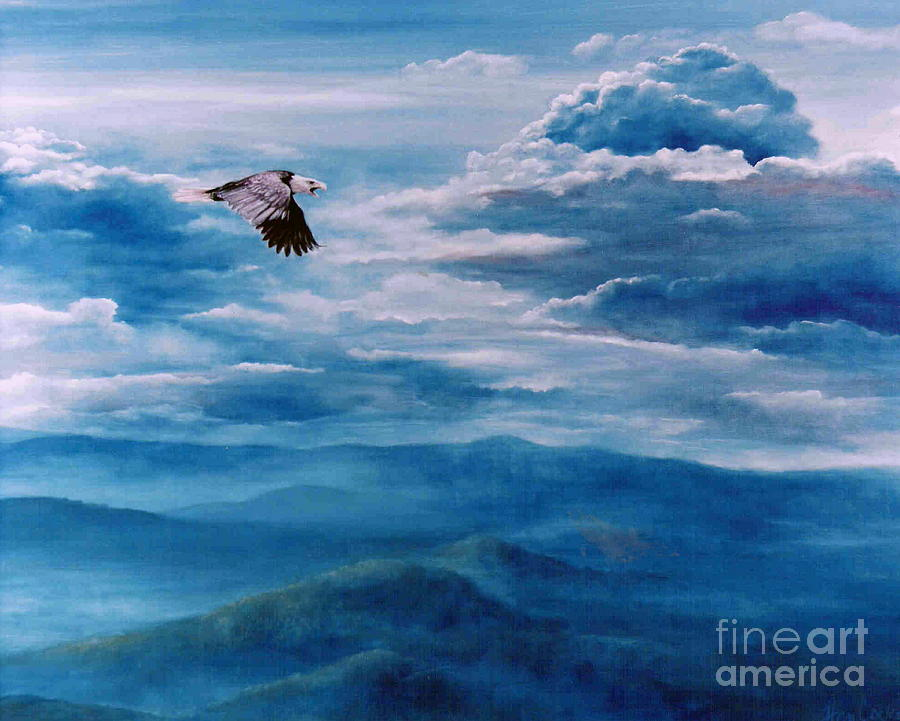 Bible Painting - They Shall Mount Up On Wings Of Eagles by Ann  Cockerill