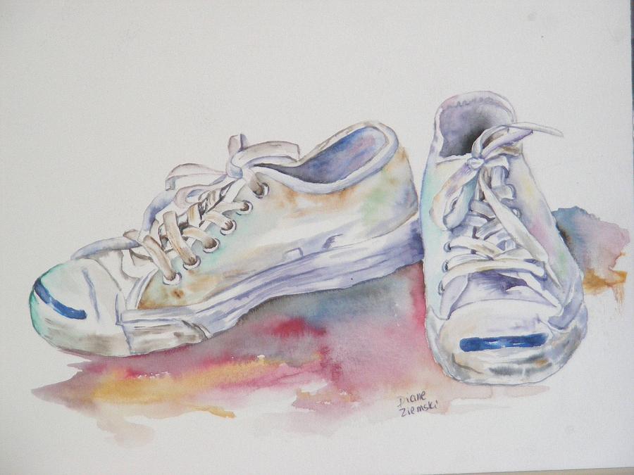 They were white Painting by Diane Ziemski