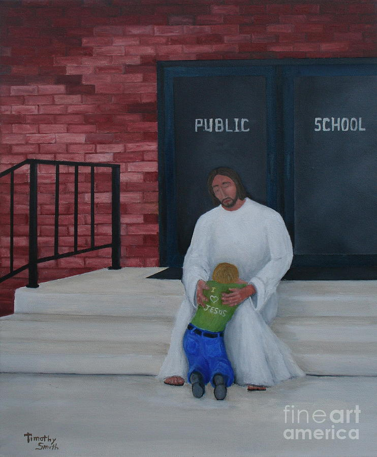 Religion Painting - They Wont Let Me In Either. by Timothy Smith