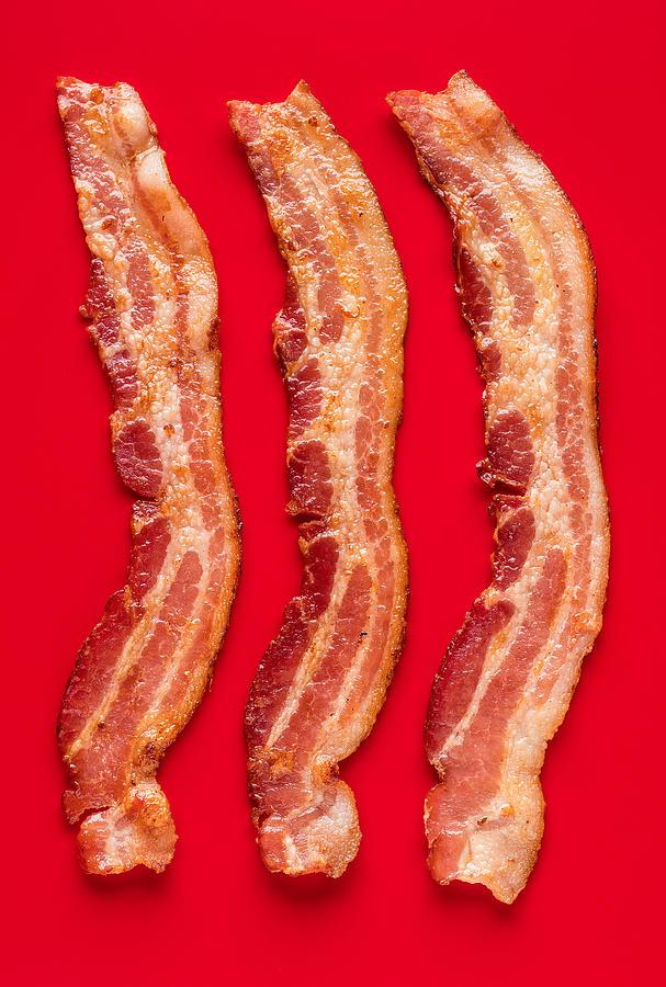 Bacon Photograph - Thick Cut Bacon Served Up by Steve Gadomski