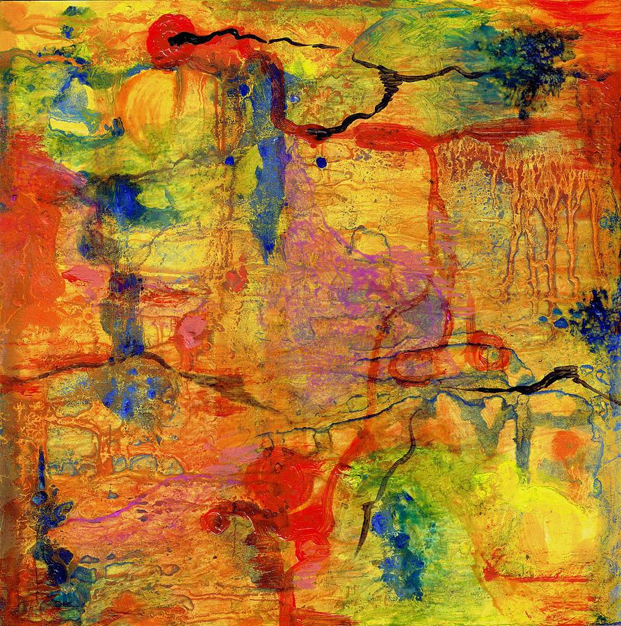 Film Painting - Thick Film Birefringence by Regina Valluzzi