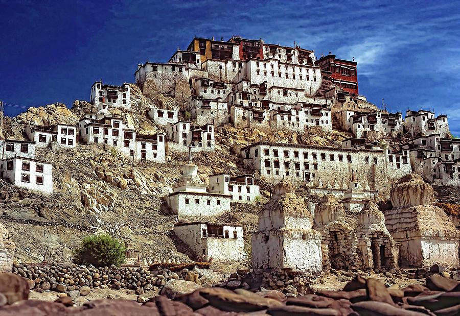 Ladakh Photograph - Thiksey Monastery by Steve Harrington