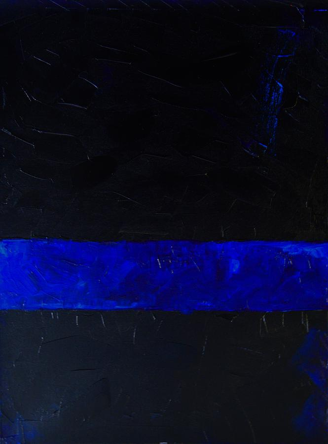 Blue Line Art Painting : Thin blue line painting by sarah jane thompson