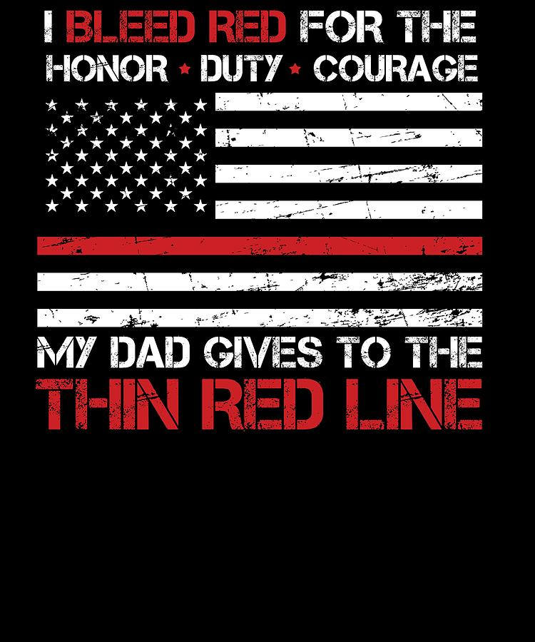 Red Line American Flag >> Thin Red Line Family Flag American Flag Proud Firefighter Dad