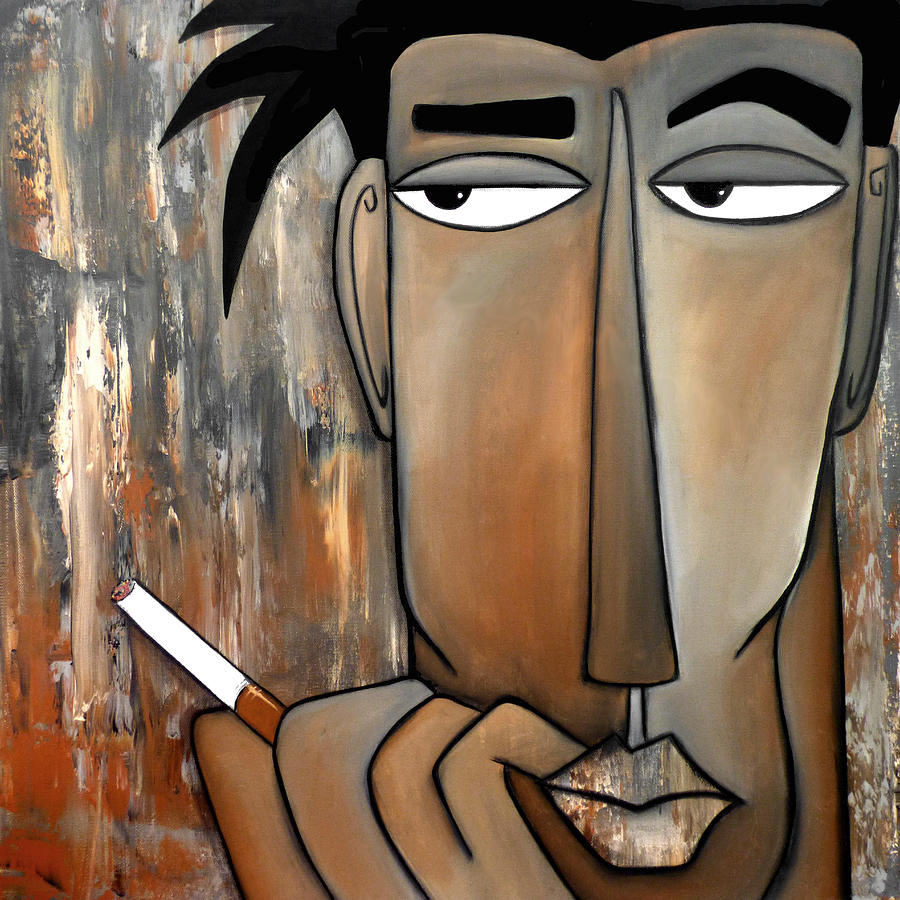 Fidostudio Painting - Think Again by Tom Fedro - Fidostudio