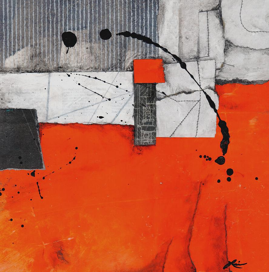 Collage Mixed Media - Think Balance by Laura  Lein-Svencner