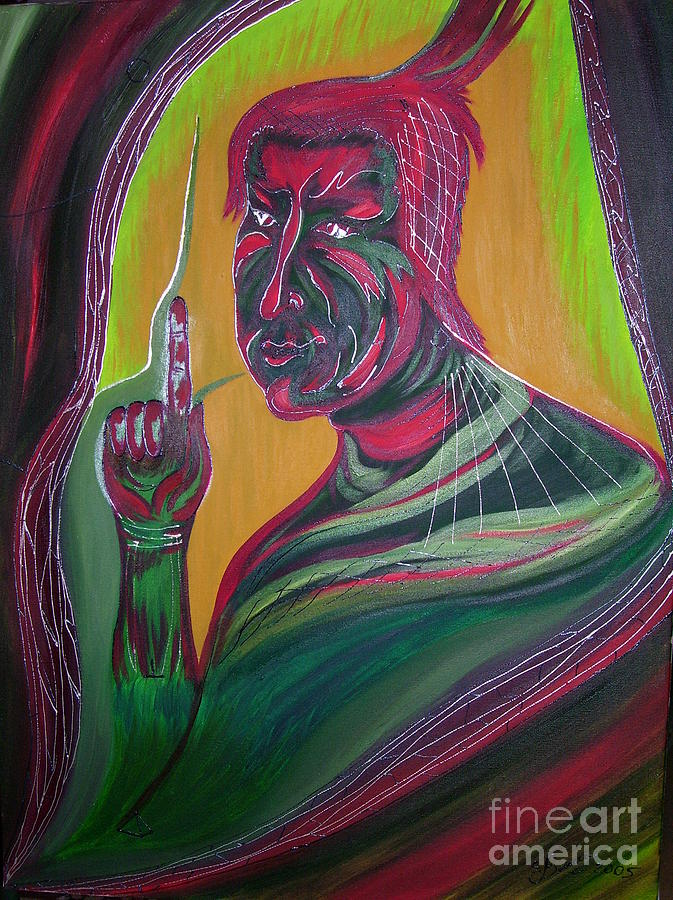 Mixed Media Painting - Think Before Say by Svetlana Vinokurtsev