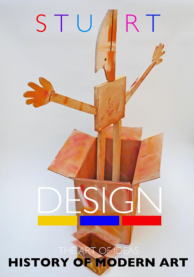 De Stijl Digital Art - Think Outside The Box by Charles Stuart