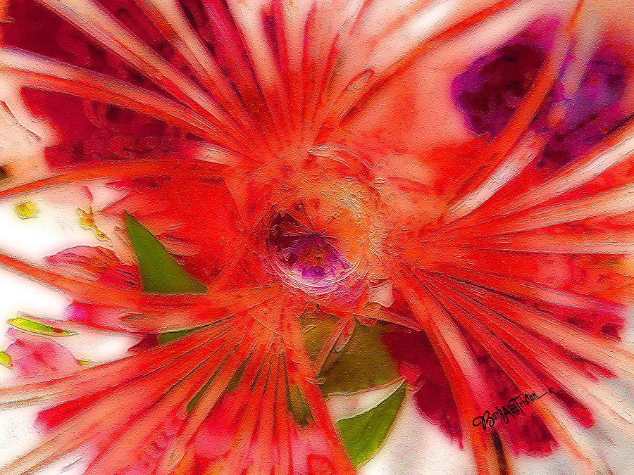Creative Energy Photograph - Think Outside the Vase #8801_1 by Barbara Tristan