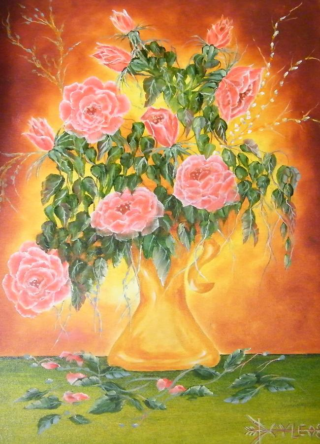 Think Pink Painting by Larry Doyle