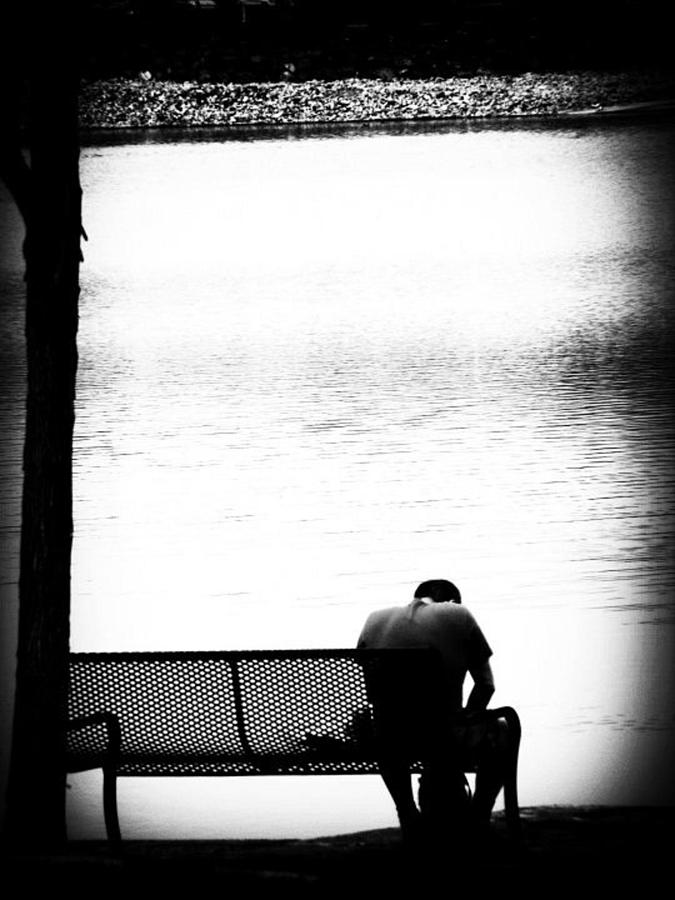 River Photograph - Thinker by Cat Jackson