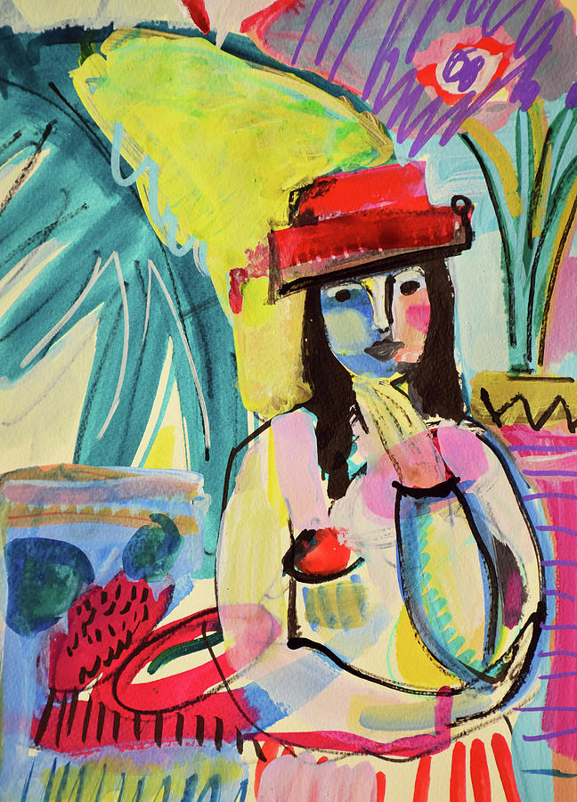 Painting Painting - Thinking In Colors by Amara Dacer
