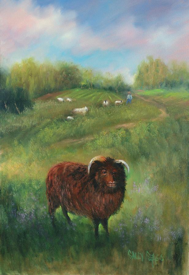Ram Painting - Thinking Of Ewe by Sally Seago