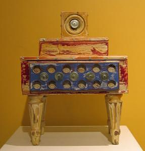 Vessel Mixed Media - Thinking Outside The Box -double Decker by Farin MEMA Greer