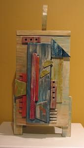 Box Mixed Media - Thinking Outside The Box -ode To Kandinsky by Farin MEMA Greer