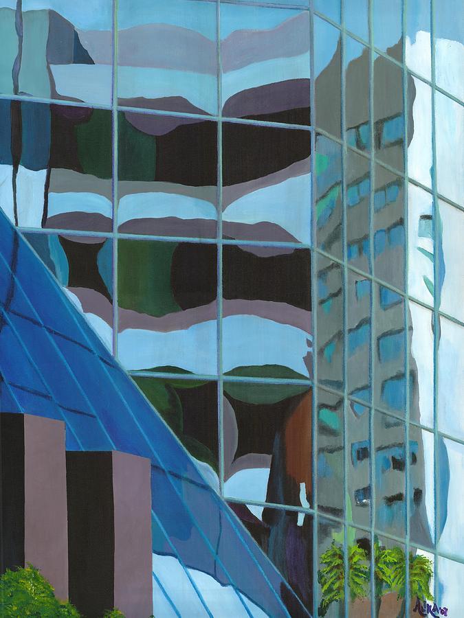 Urban Painting - Third And Earll by Alika Kumar