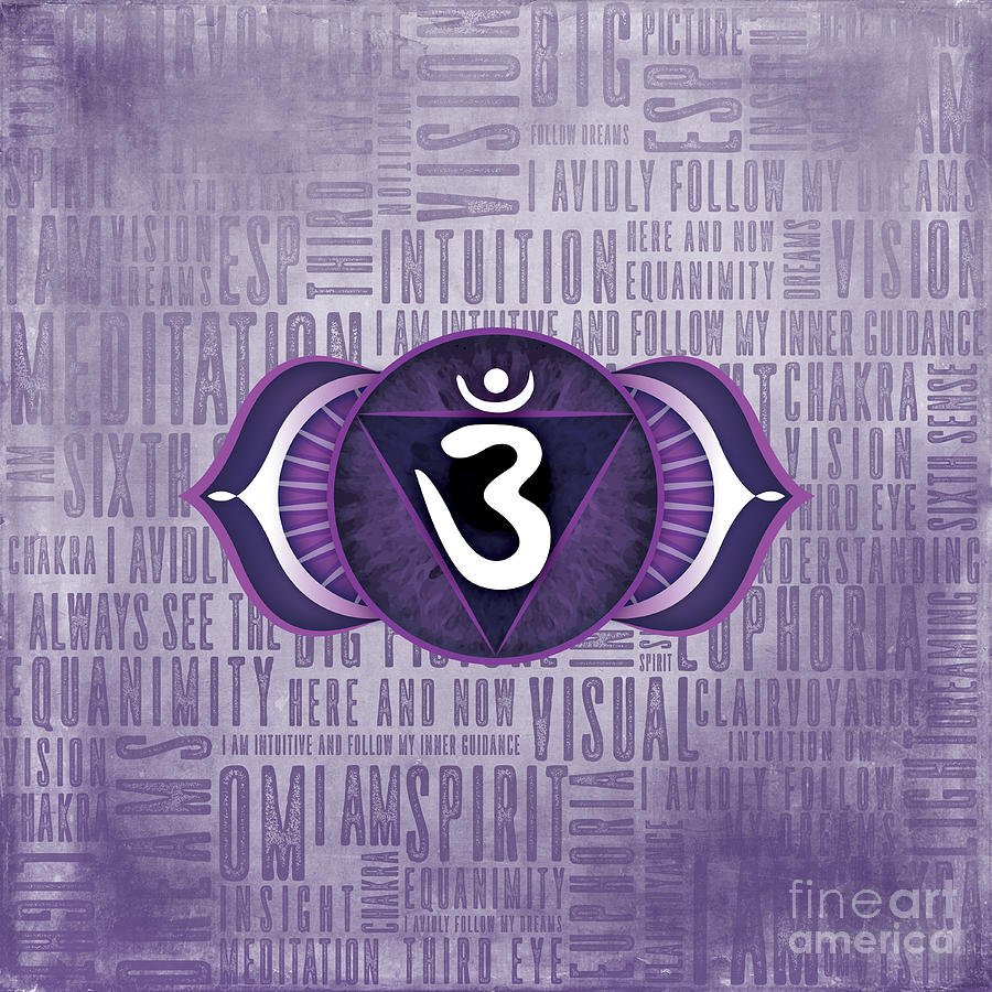 Third Eye Digital Art - Third Eye Chakra - Awareness by David Weingaertner