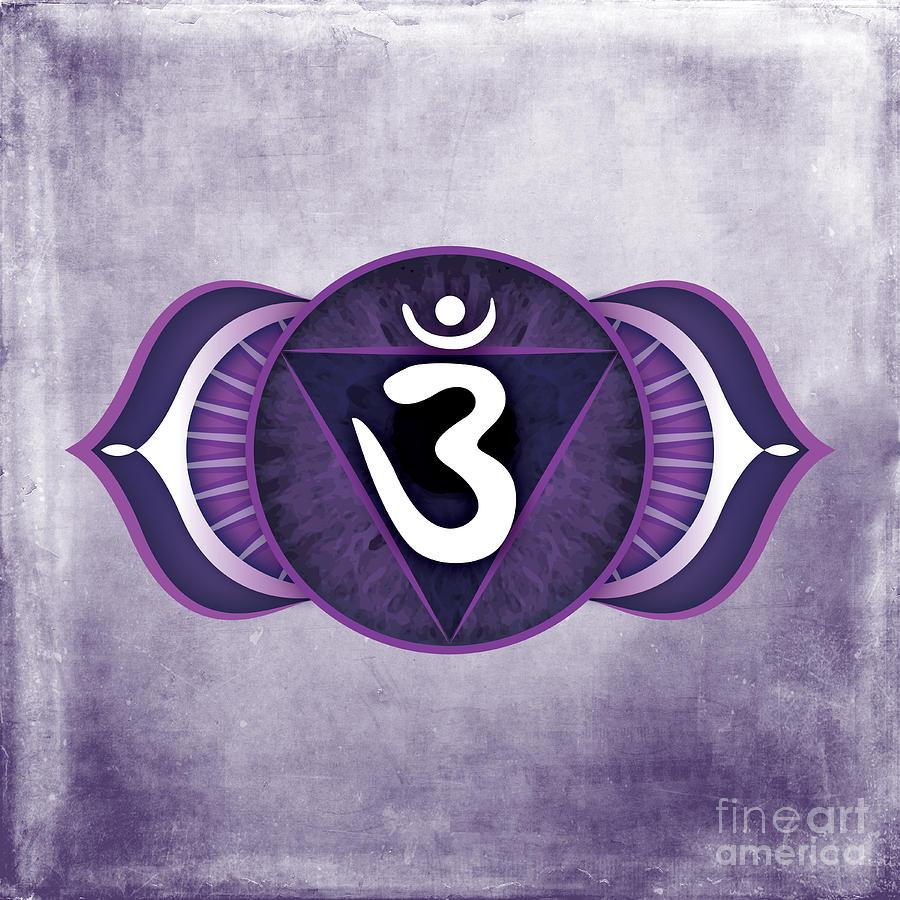 Third Eye Digital Art - Third Eye Chakra by David Weingaertner