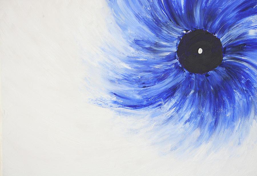 Spiritual Greetings Painting - Third Eye-ris by Malik Jaffer
