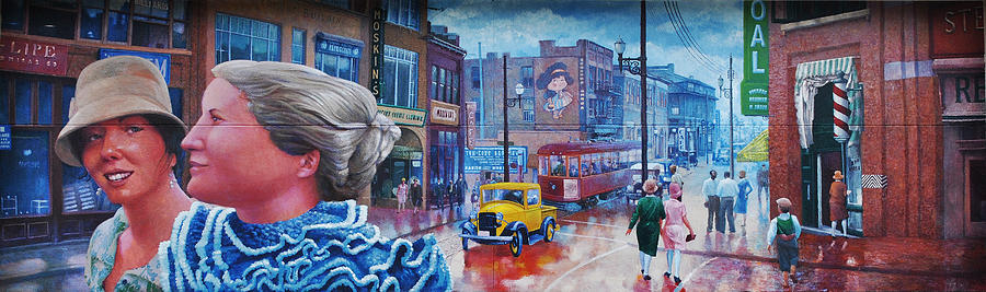 Historical Painting - Third Trolley Mural by Alexandru Sacui