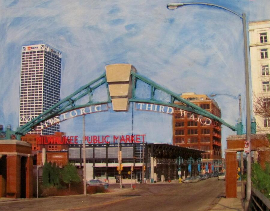 Third Ward Arch Over Public Market Mixed Media