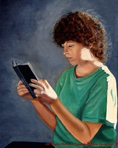 Portrait Painting - Thirst For Knowledge by Toni Berry